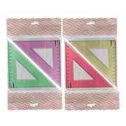 Треугольник 45*, длина 12 см,флюоресцентный,прозрачный,пластиковый (ACTION!) фото