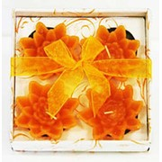 Набор из 4 свечей (цветок) в под.упаковке (уп. 36) фото