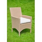 Крісло зі штучного ротангу з подушкою МОНАКО фото