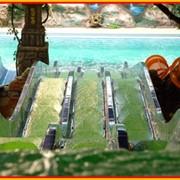 Водный аттракцион в аквапарке Джунгли для детей и взрослых - Тройная скоростная горка «Мультислайд» фото
