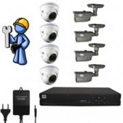 Видеонаблюдение Эконом 8 камер для дома фото