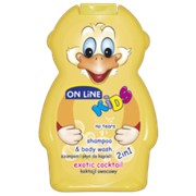 On Line kids шампунь + пена для ванн экзотические фрукты, 250 мл фото