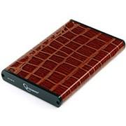 Корпус для HDD 2.5 SATA Gembird EE2-U3S-70L-BR до 750 Гб, алюминиевый, крокодиловая кожа, коричневый, usb 3.0 фото