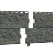 Cайдинг виниловый Ю-Пласт Стоун-хаус камень изумрудный (двойной замок) фото