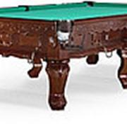 Бильярдный стол для русского бильярда Gogard 10ф (черный орех) фото