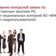 Подготовка тендерной документации по государственным закупкам и иным закупкам фото