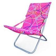 Кресло складное Белла-3 CHO-134-1C Pink (120х61х85см) фото