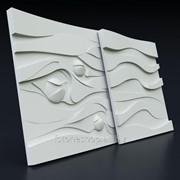 """3D панель гипсовая """"МАКСВЕЛ"""" (пано) размер 50х50 см фото"""