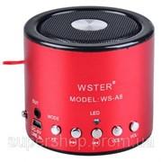 Мини портативная MP3 колонка от USB FM WS-A8 Red par001737opt фото