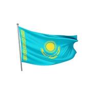 Флаг РК 2х4 м (сетка) фото