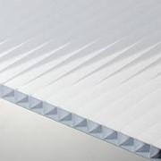Сотовый поликарбонат 8 мм белый Novattro 2,1x12 м (25,2 кв,м), лист фото