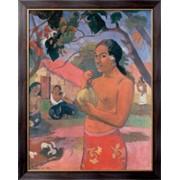 Картина Женщина, держащая плод, Гоген, Поль фото