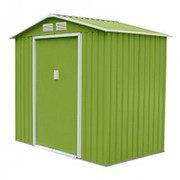 Хозблок Sally G (2,91х3,11х2,05м) светло-зеленый с бежевым кантом фото