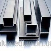 Труба алюминиевая профильная 39,5х20х1,0 / б.п. фото