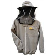 Куртка пчеловода с замком и лицевой сеткой OPTIMA line фото