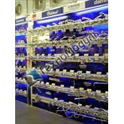 Торговый стеллаж для смесителей. фото
