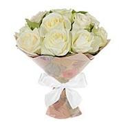 Букет из белых роз (11 шт) фото