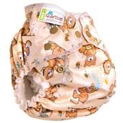 Многоразовый подгузник GlorYes! для приучения к горшку NEW Медвежонок 3-18 кг + два вкладыша фото