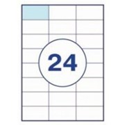 Этикетка самоклеящиеся а4, 24 шт на листе 70х37,1 фото