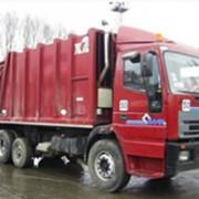 Вывоз строительных и негабаритных отходов контейнерами ёмкостью 11м3, 15 м3, 23м3, 36м3. фото