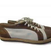 Кожаные спортивные туфли фото
