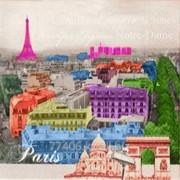 Салфетка для декупажа Париж-1 фото
