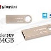 Флэш-карта 64GB KINGSTON DTSE-9 Металлическая тонкая USB 2.0 фото
