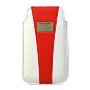 Чехол-кармашек Aston Martin Racing для iPhone 4\4S белый\красный фото