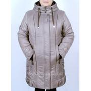 Куртка зимняя комбинированая - ЛОРА (КАПУЧИНО+ШОКОЛАД). M-302-Z#19#15 фото