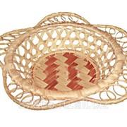 Хлебница круглая с расширен. краями в виде фестонов, редкое плет-е (Ф17/13*H4), арт. 832130 фото