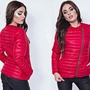 Куртка-косуха женская (6 цветов) - Красный ВШ/-1077 фото