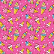 "Упаковочная бумага Миленд ""Мороженное"", 1 лист, 70 х 100 см., 90 г/м2, УБ-8129 фото"