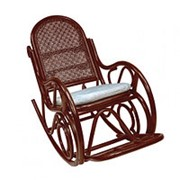 Кресло-качалка Moscow коньяк (150х60х107см) с подушкой фото