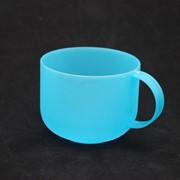 Кружка 500 мл (цв.синий-прозрачный) 880506 фото