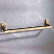Вешалка для полотенец двойная 600х120 (gold plating) фото