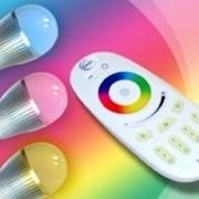 Светодиодная Лампа Диммируемая RGB 6 Вт с пультом фото