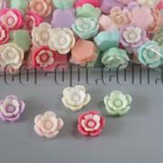 Цветы акриловые двухцветные 15 мм/100 шт 7425 фото