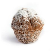 Кекс творожный с сахарной пудрой фото