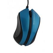 Мышь Pravix темно-синий глянец/черный провод 1 5м USB-порт фото