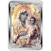 Икона Богоматери Иерусалимская. Серебряная монета фото