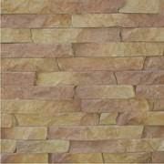 Камень натуральный отделочный Соломка Теребовлянский красно-желтый рваный (Стеновые, кладочные материалы, кирпич, камень, Камень природный) фото