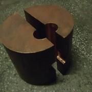 Медная скоба-накладка (ванночка) для сварки арматуры фото