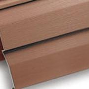 Сайдинг виниловый красно-коричневый фото
