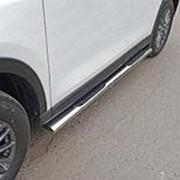 Пороги Mazda CX-5 2017-наст. время (овальные с накладкой 120х60 мм) фото