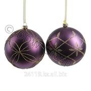 Шары фиолетовые. с золот рисунком фото