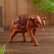 """Сувенир дерево """"Слон резной"""" 20х8х16 см фото"""