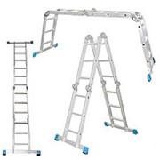 Шарнирная лестница из 4х частей 4х3, высота разложенной 3,6 м фото