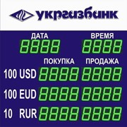 Электронное табло обмена валют фото