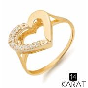 Золотое кольцо с бриллиантами 0,09 карат (Код: 14836) фото