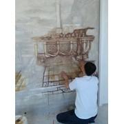 Роспись Живопись Фреска Барельеф Имитация мрамора Травертин фото